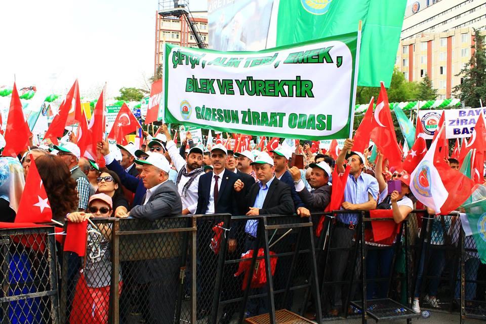 Giresun Ziraat Odası'ndan Ankara çıkartması